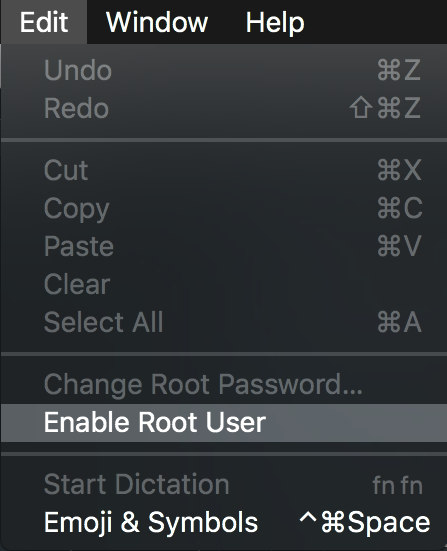 Directory Utility Menu